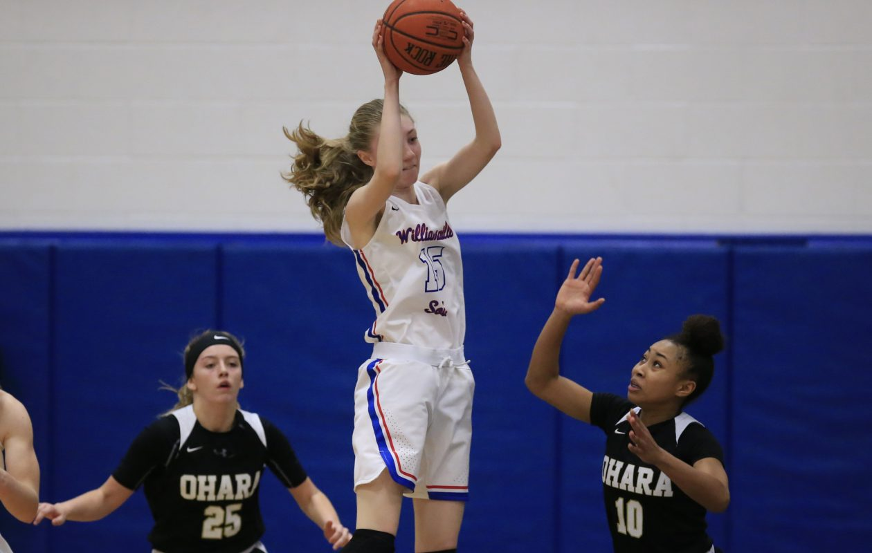 Williamsville South's Lauren Lassiter is among the Character Award winners from last weekend's championship basketball games. (Harry Scull Jr./ Buffalo News)
