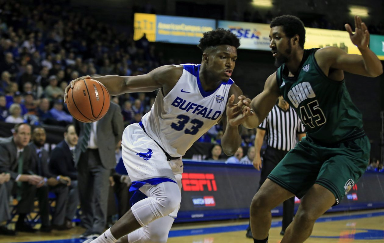 UB forward Nick Perkins retains the title of the MAC's Sixth Man of the Year. (Harry Scull Jr./ Buffalo News)