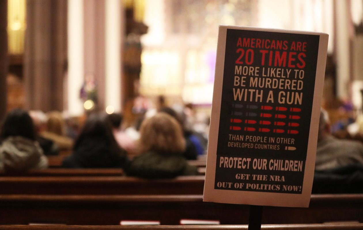 Twenty different organizations came together to commemorate all those students lost to gun violence from Columbine to Sandy Hook and Parkland in a candlelight vigil at St. Paul's Episcopal Cathedral in Buffalo, Thursday, March 1, 2018. (Sharon Cantillon/Buffalo News)