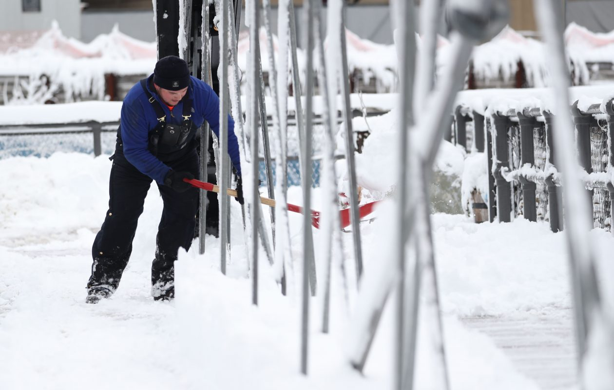 Winter marches on. Up to 8 more inches of snow is forecast in Buffalo by early Thursday, the National Weather Service said. (Sharon Cantillon/News file photo)