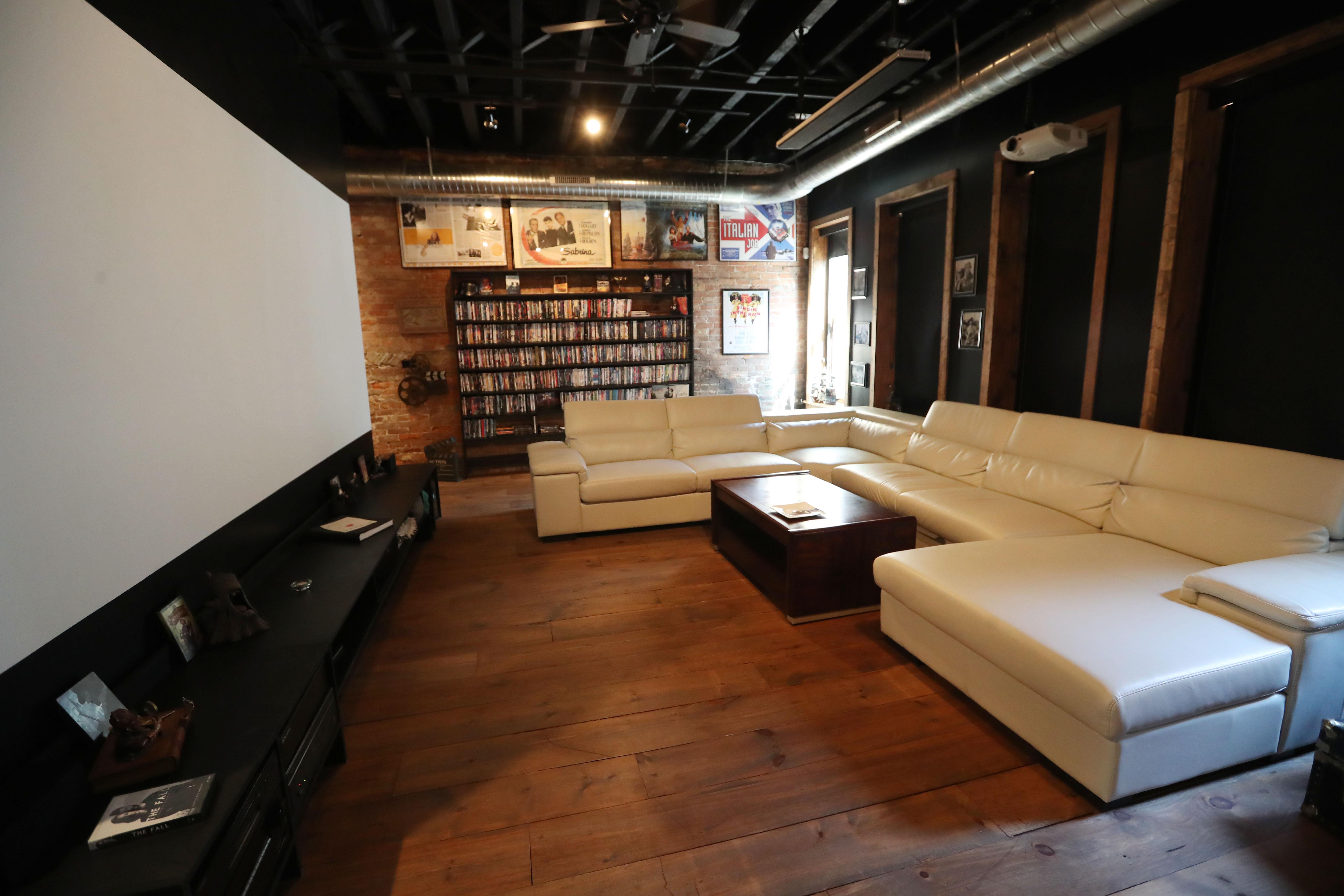 A Room For Movie Viewing. (Sharon Cantillon/Buffalo News)