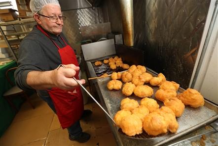 Making St. Joseph's Day baked goods