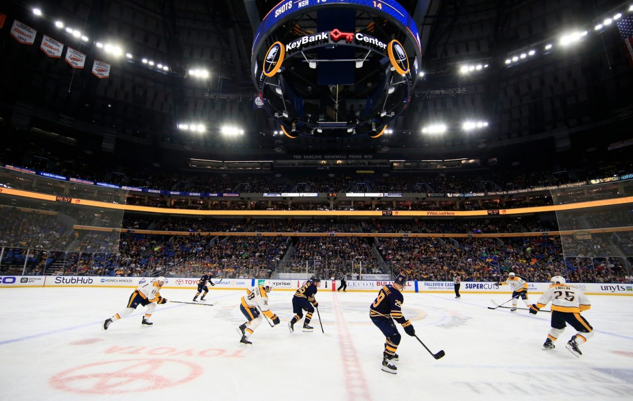 The Sabres will close their home schedule April 4 in KeyBank Center against Ottawa. (Harry Scull Jr./Buffalo News)