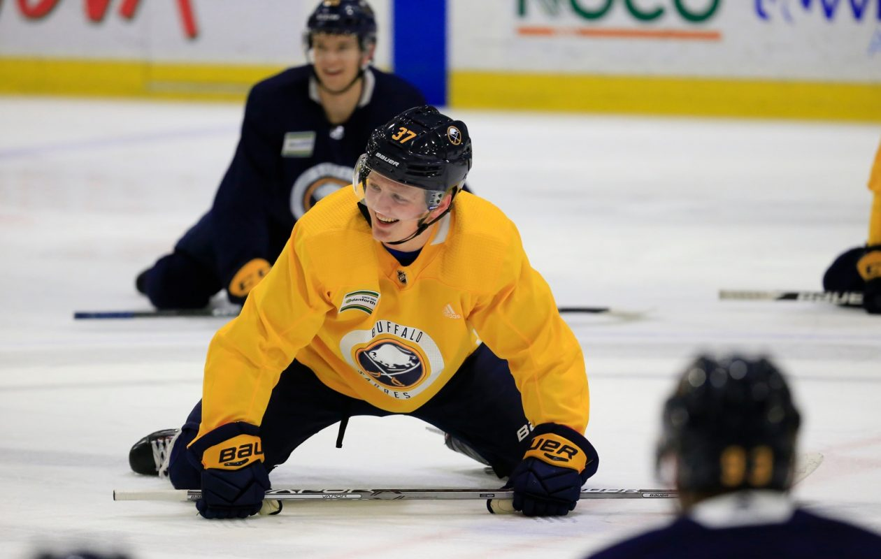 Casey Mittelstadt had a lot to smile about while being in the NHL. (Harry Scull Jr./Buffalo News)