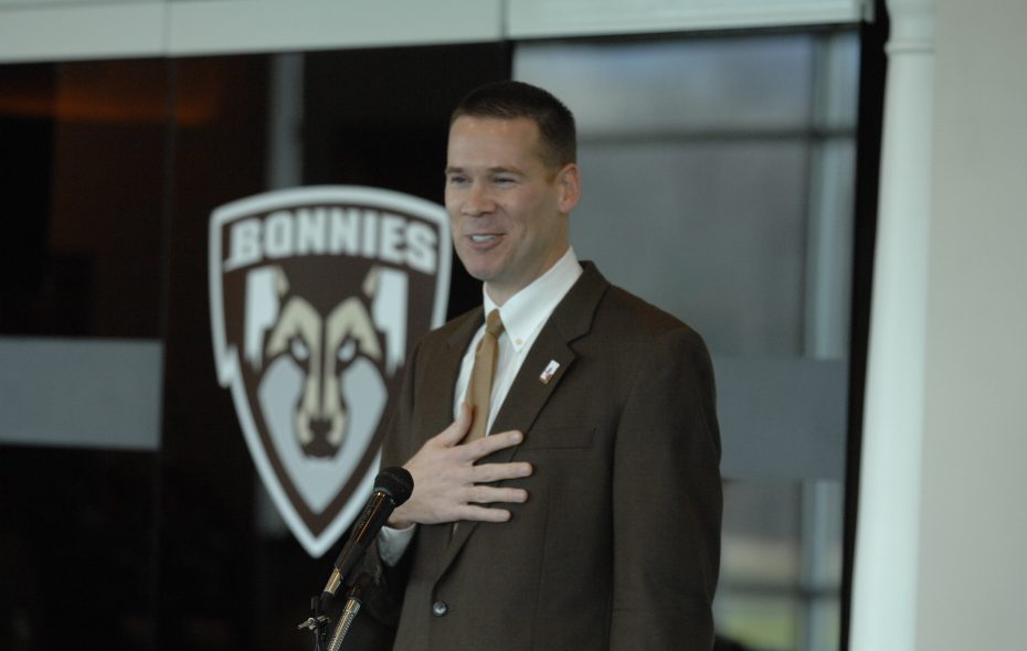 Steve Watson speaks after being named St. Bonaventure's athletic director in this December 2006 file photo. (John Hickey/News file photo)