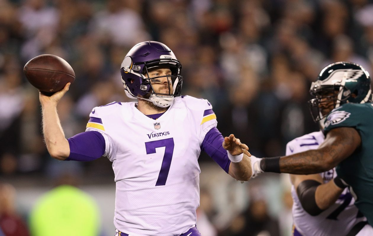 Case Keenum of the Minnesota Vikings could be a quarterback the Buffalo Bills pursue in free agency. (Getty Images)