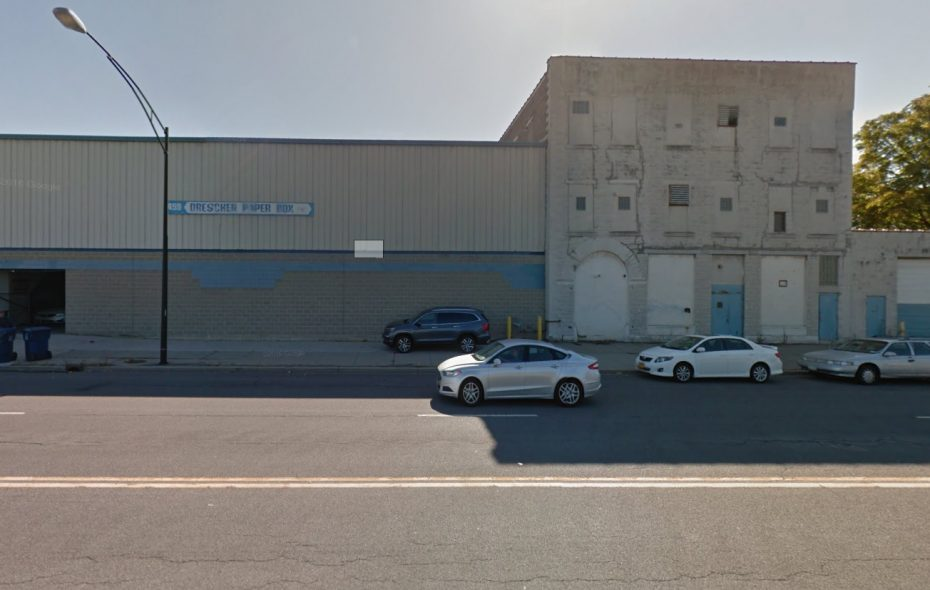 The Drescher Paper Box building on Broadway may become a self-storage facility.