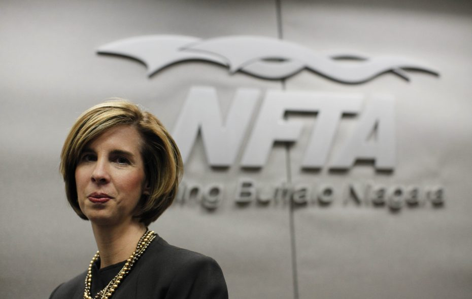 NFTA Executive Director Kimberley A. Minkel and two other NFTA officials  wrote checks to the authority or voided checks totaling $25,296 to return the raises, the documents show. (Derek Gee/Buffalo News file photo)