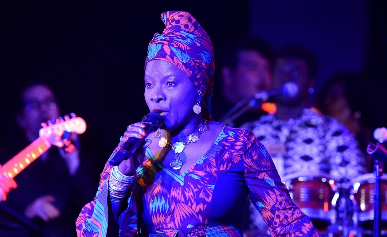 Angélique Kidjo has released a spirited take on Talking Heads' 'Born Under Punches,' and Jeff Miers loves it.  (Photo by Michael Kovac/Getty Images for Annenberg Foundation)