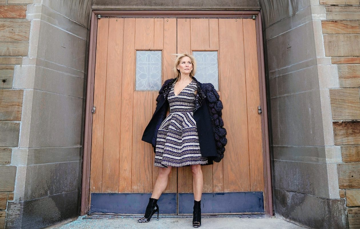 Patti Lawley, co-owner of Annarlette in Amherst, models on her favorite looks. (Dave Jarosz)