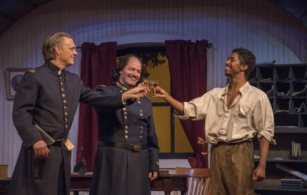Christopher Evans, left, John Fredo and Patrick Coleman are featured in the Kavinoky Theatre's production of 'Ben Butler.'