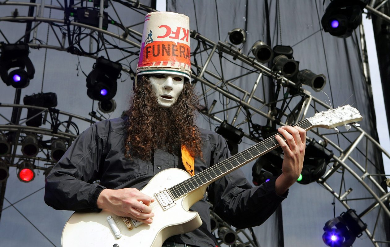 The 50-year old son of father (?) and mother(?) Buckethead in 2019 photo. Buckethead earned a  million dollar salary - leaving the net worth at  million in 2019