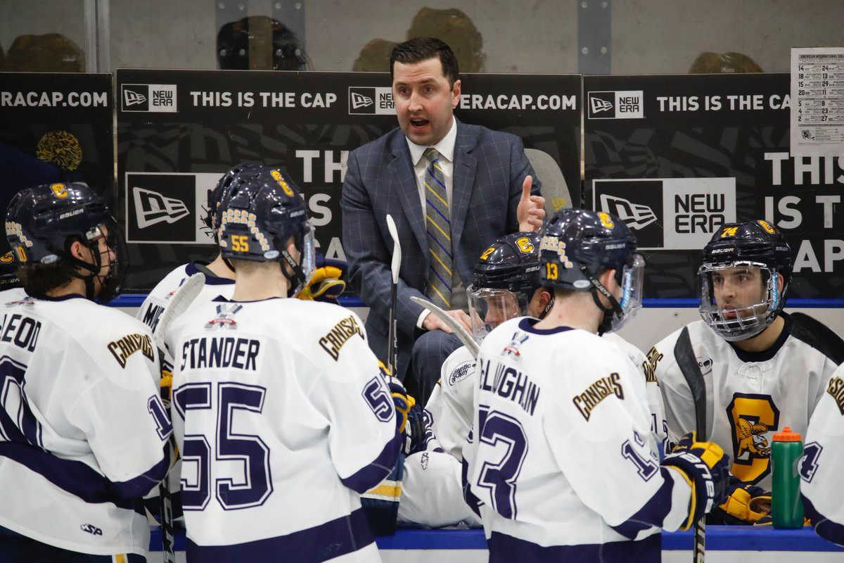 Canisius hockey coach Trevor Large (Harry Scull Jr./Buffalo News)