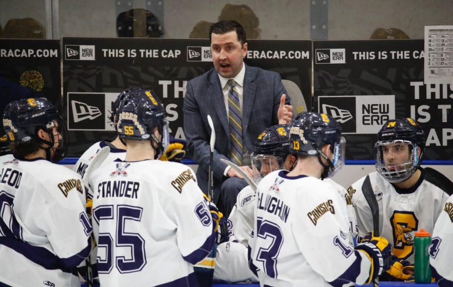 Canisius hockey coach Trevor Large announced his team's schedule for the 2018-19 season. (Harry Scull Jr./Buffalo News)