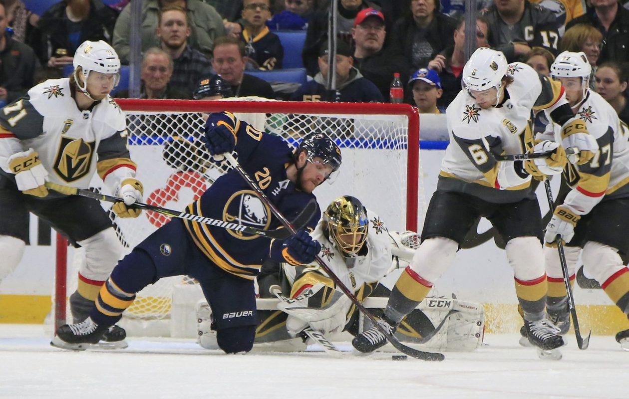 Scott Wilson joined the Sabres' top line and the first power-play unit against the Vegas Golden Knights. (Harry Scull Jr./Buffalo News)