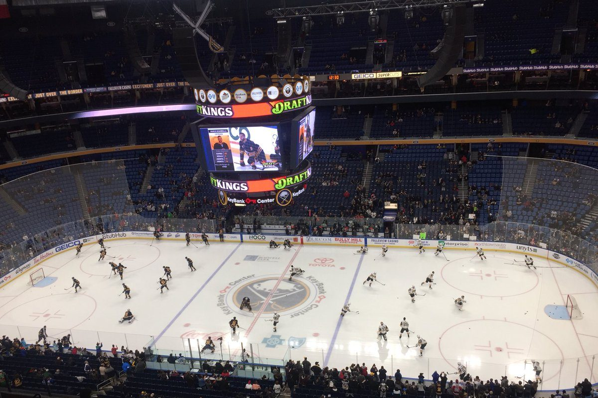 Sabres welcome the Vegas Golden Knights for the first time at KeyBank Center. (Mike Harrington/Buffalo News)
