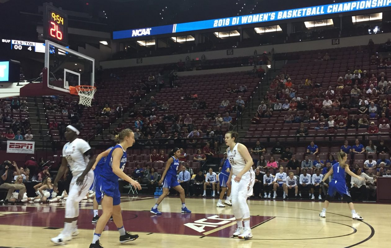 The University at Buffalo gets started against Florida State. (Amy Moritz/Buffalo News)