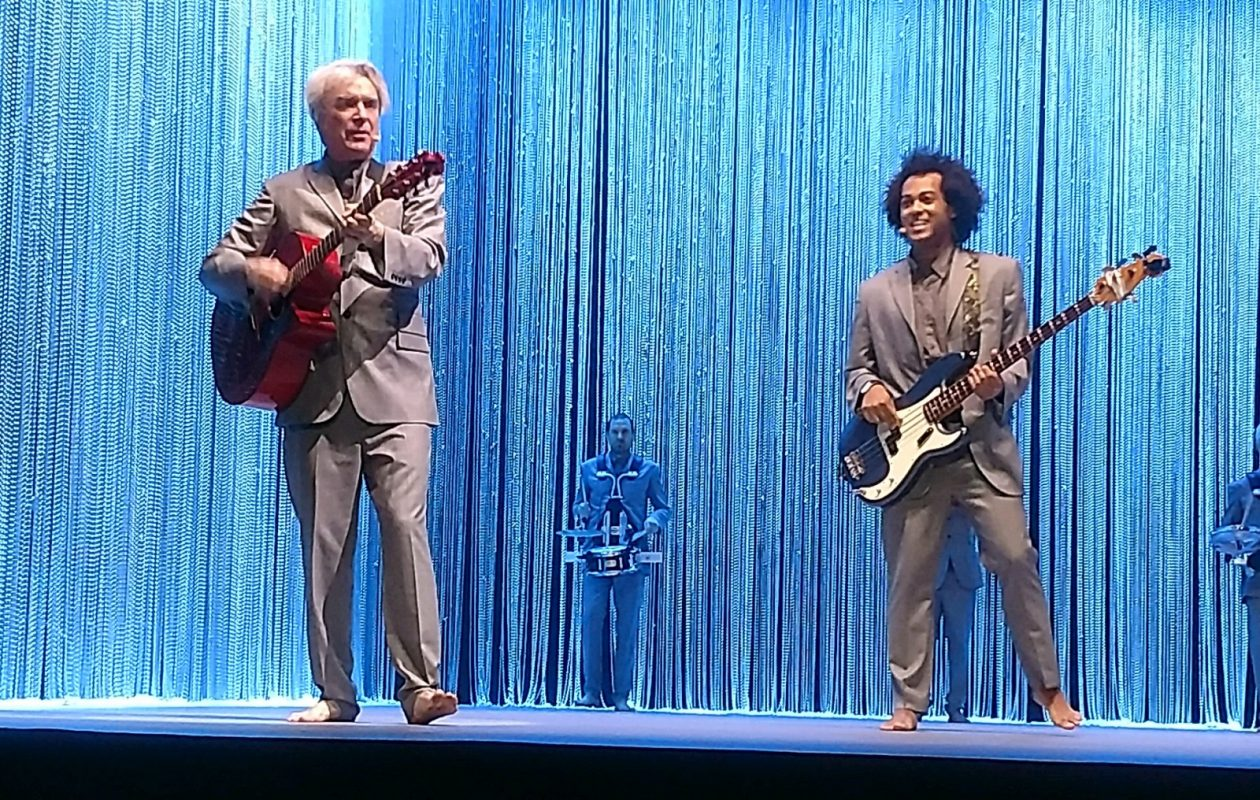 David Byrne performed at the University at Buffalo's Center for the Arts on March 6. (Photo by Jeff Miers)
