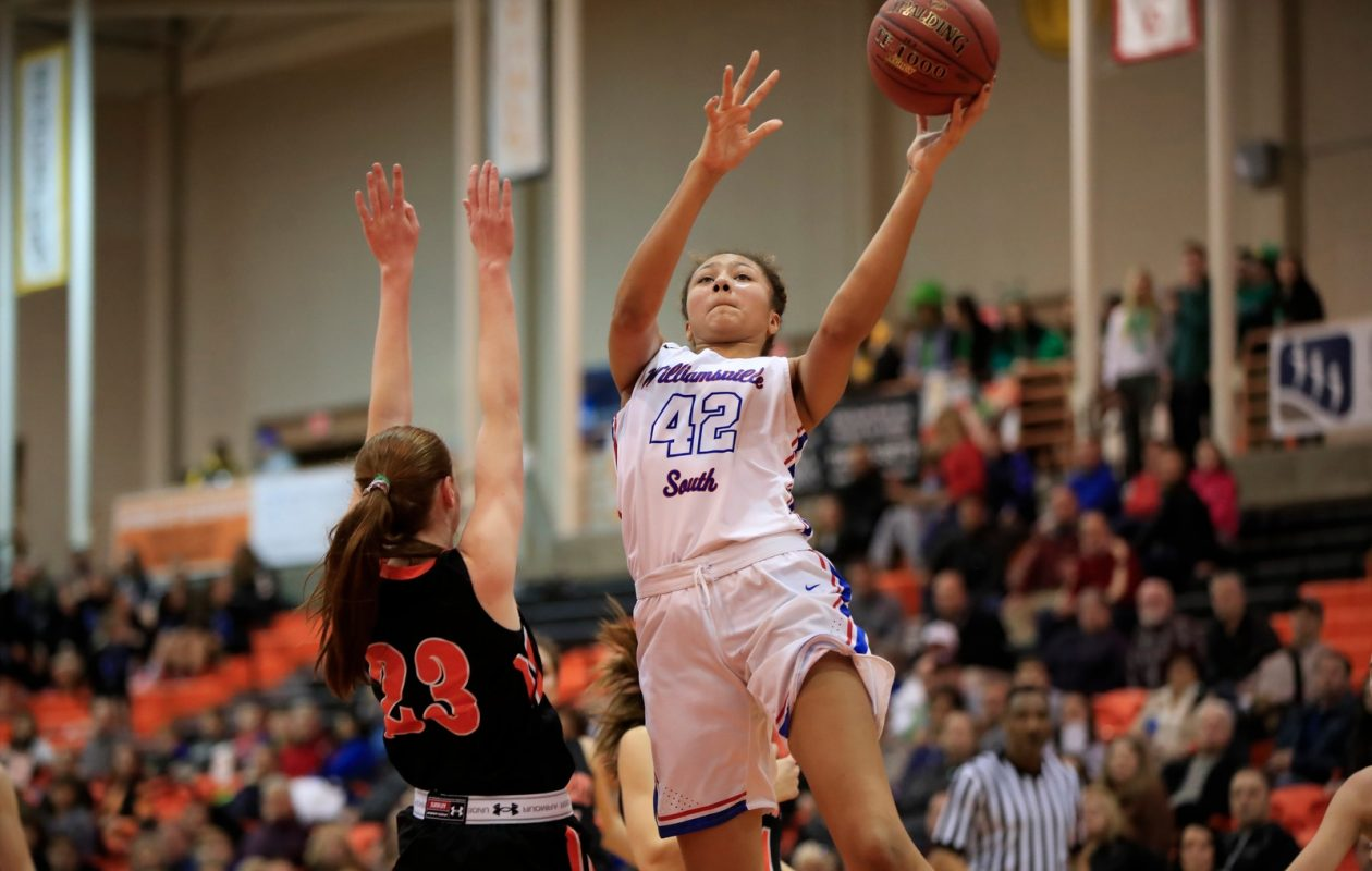 Freshman Amari DeBerry leads the Williamsville South girls basketball team into Friday night's semifinal matchup with Elmont Memorial. (Harry Scull Jr./Buffalo News)