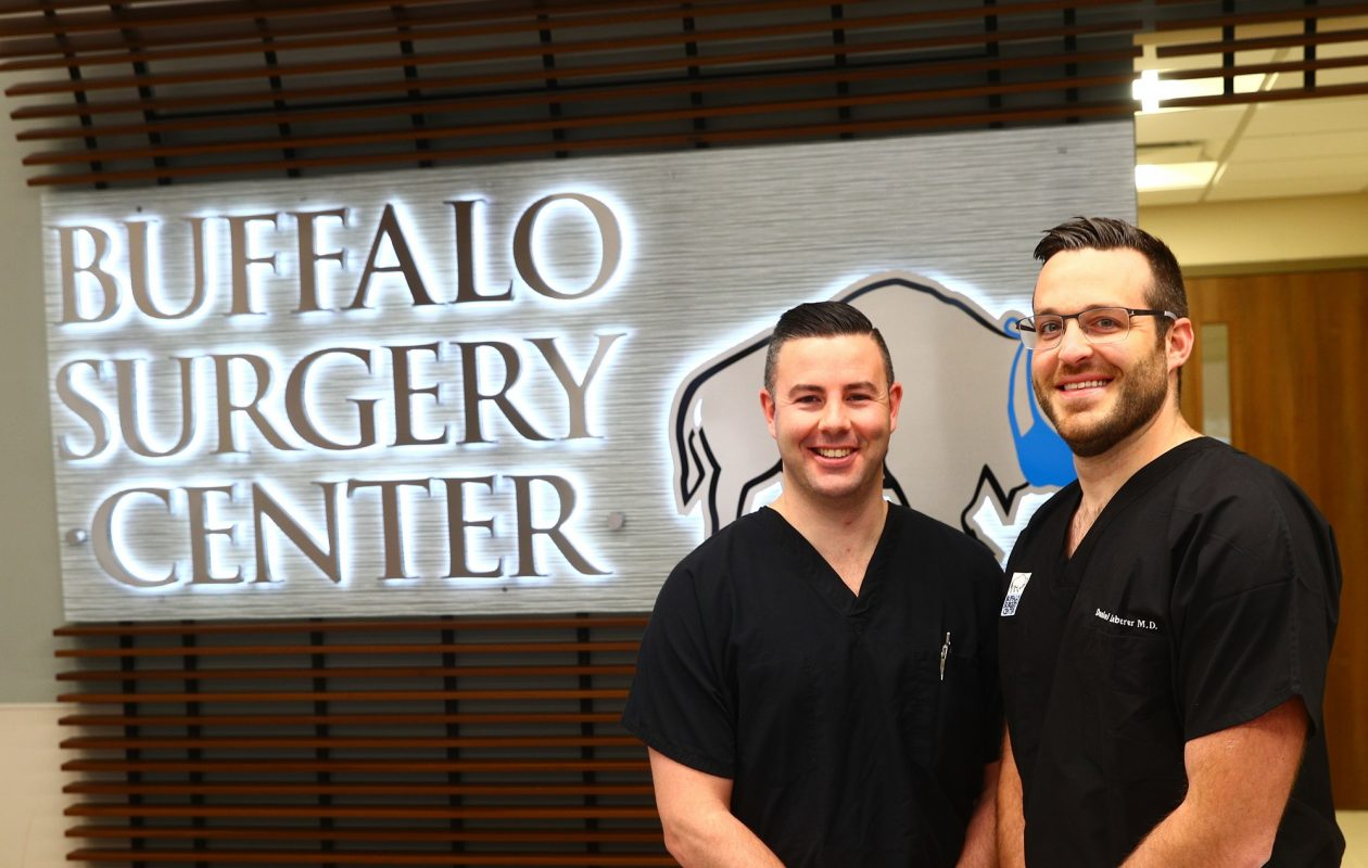 Dr. Joseph Mills, left,  and Dr. Daniel Leberer, with Buffalo Medical Group Colon & Rectal Surgery, say their practice has treated a growing number of patients with diverticulitis in recent years. They maintain that the modern American diet is the cause.  (John Hickey/Buffalo News)