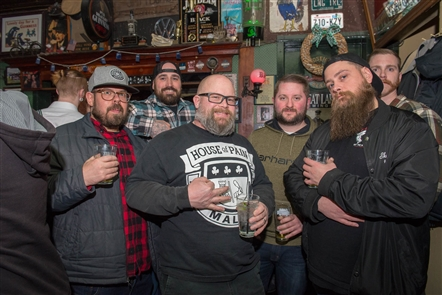 Smiles at Essex St. Pub Beard Competition