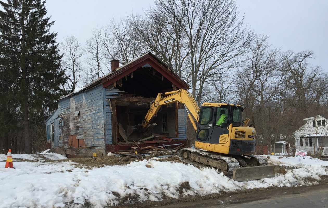 This house had been vacant about 10 years before it was torn down Wednesday. (Barbara O'Brien/Buffalo News)