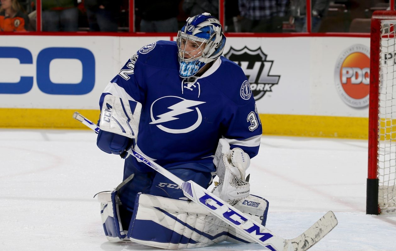 After serving as a backup for Tampa Bay last season, Adam Wilcox could appear in his first NHL game with the Sabres. (Getty Images)