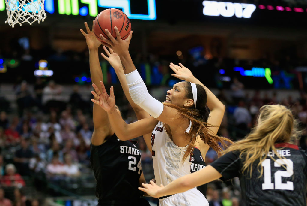 UB's challenge in Saturday's Sweet Sixteen game vs. South Carolina: How to keep A'ja Wilson from dominating on both ends of the floor. (Getty Images)