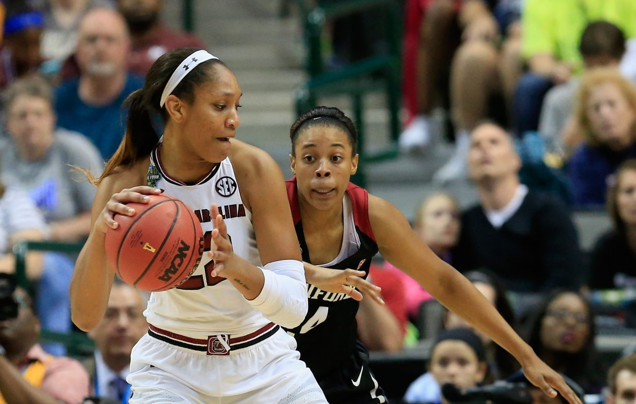 A'ja Wilson has already picked up two National Player of the Year awards. (Getty Images)