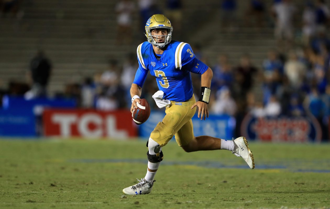 UCLA quarterback Josh Rosen is the Buffalo Bills' pick in The Buffalo News' final mock draft of 2018. (Getty Images)