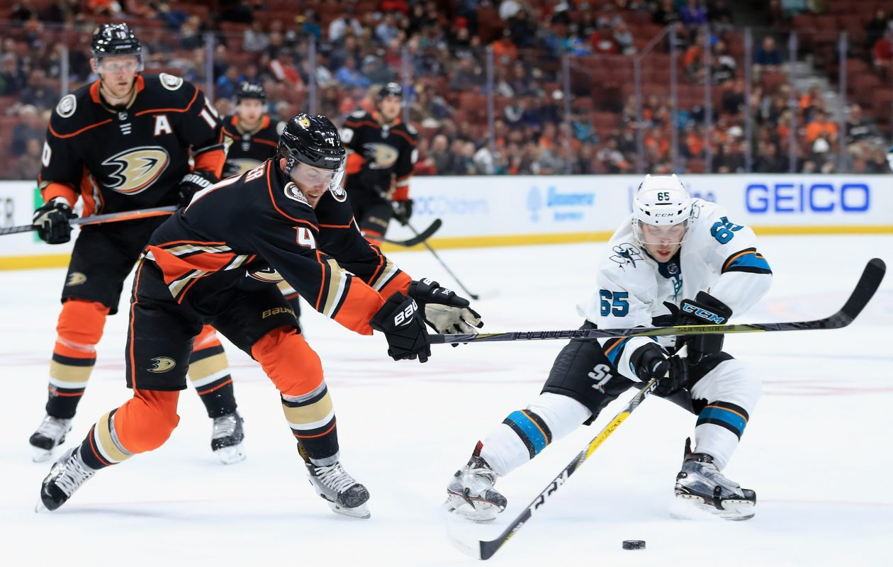 Dan O'Regan (65) says he's an undersized forward who likes to play hard and create plays. (Getty Images)