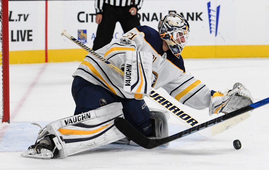 Chad Johnson was a surprise starter for the Sabres and stopped the Maple Leafs' opening 24 shots. (Getty Images)