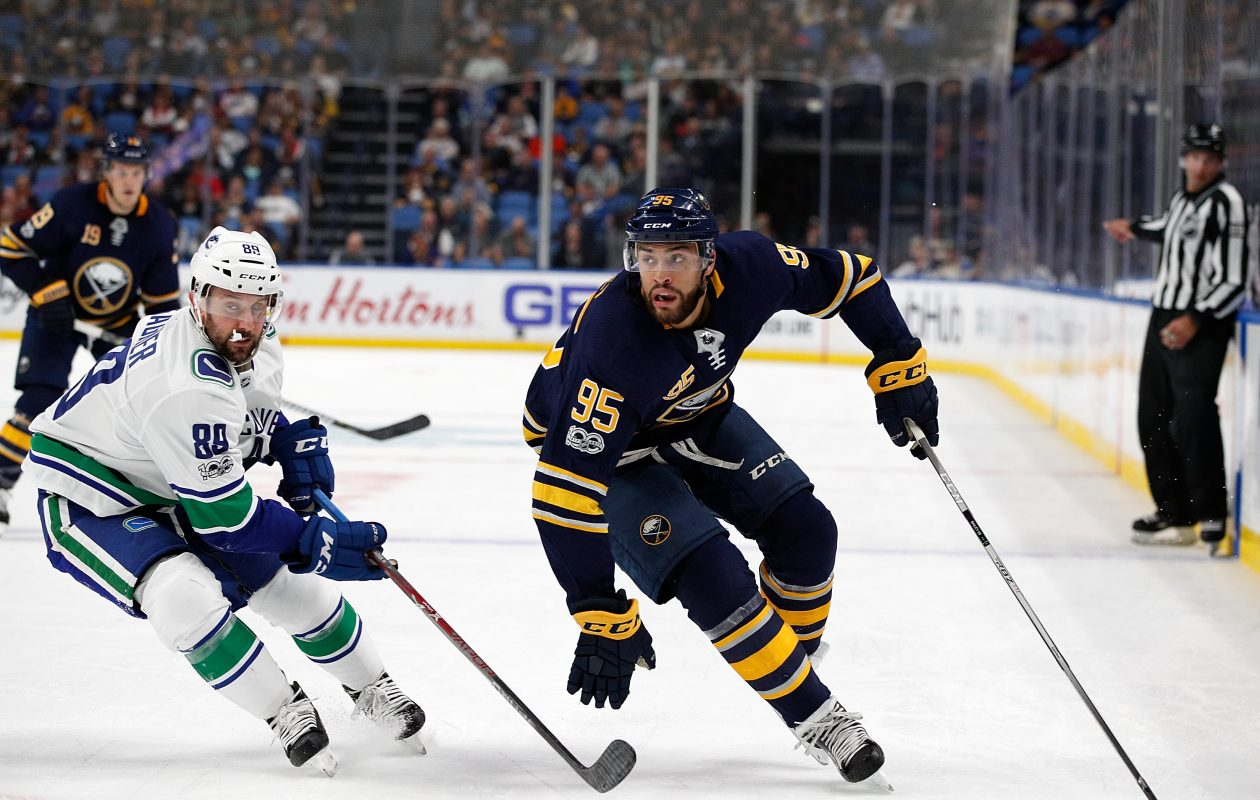 Justin Bailey had two goals and three points during his first stint with the Sabres this season. (Getty Images)