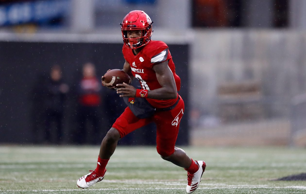 Louisville's Lamar Jackson. (Andy Lyons/Getty Images)