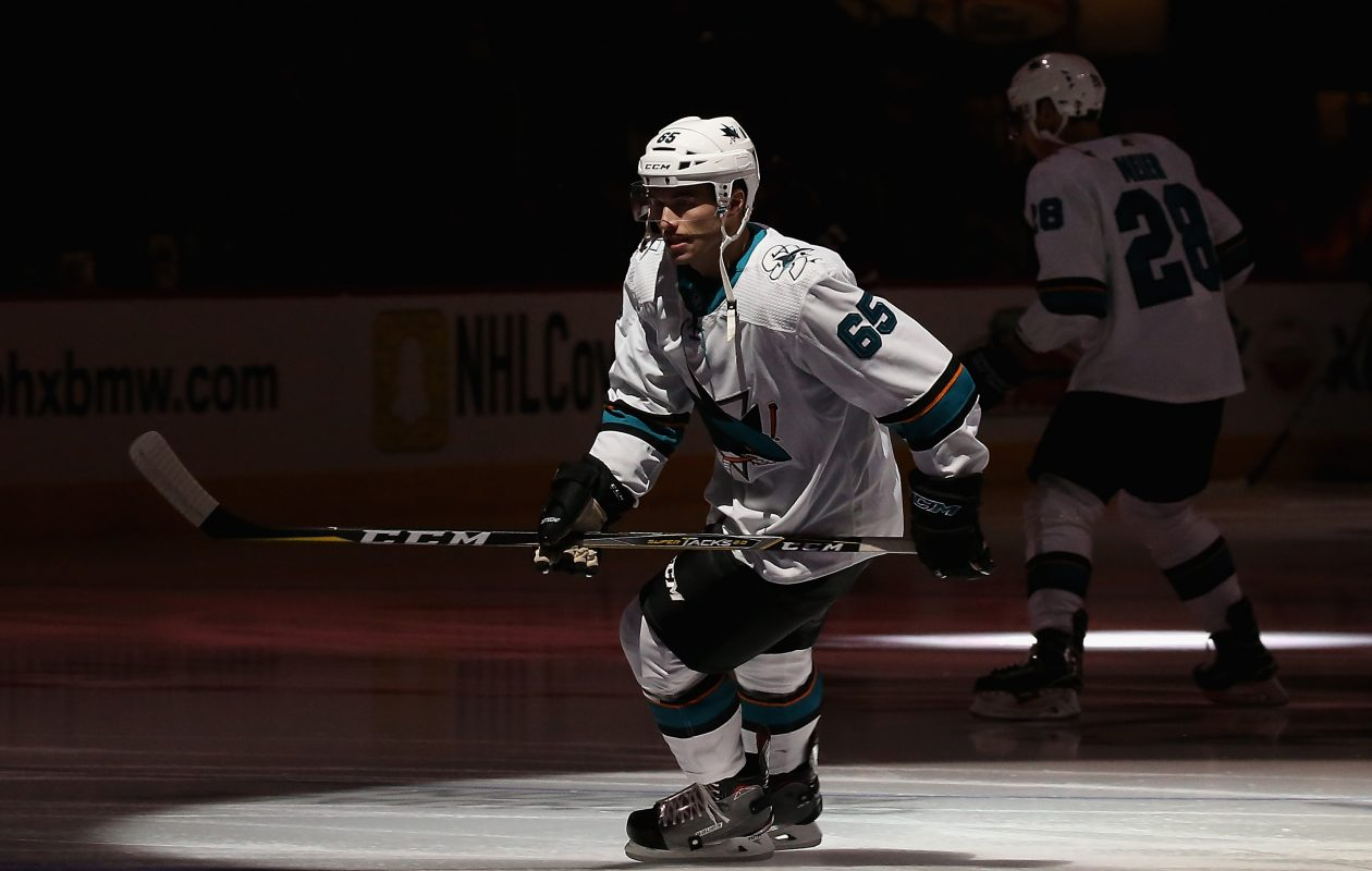 Danny O'Regan appeared in 22 games with the San Jose Sharks. (Getty Images)