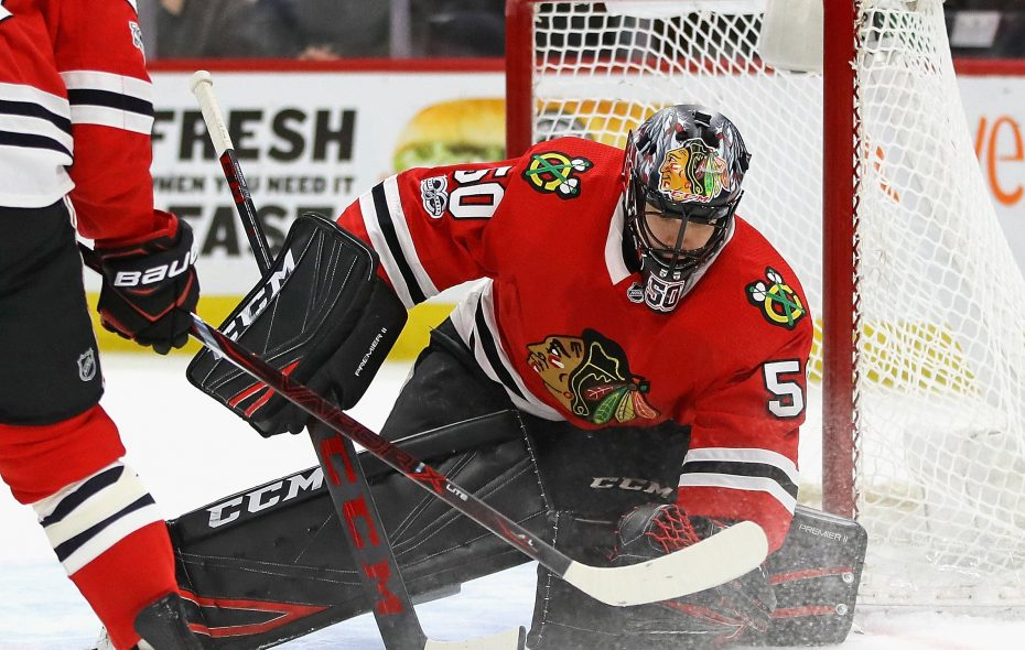 Corey Crawford has appeared in just 28 of Chicago's 71 games. (Getty Images)