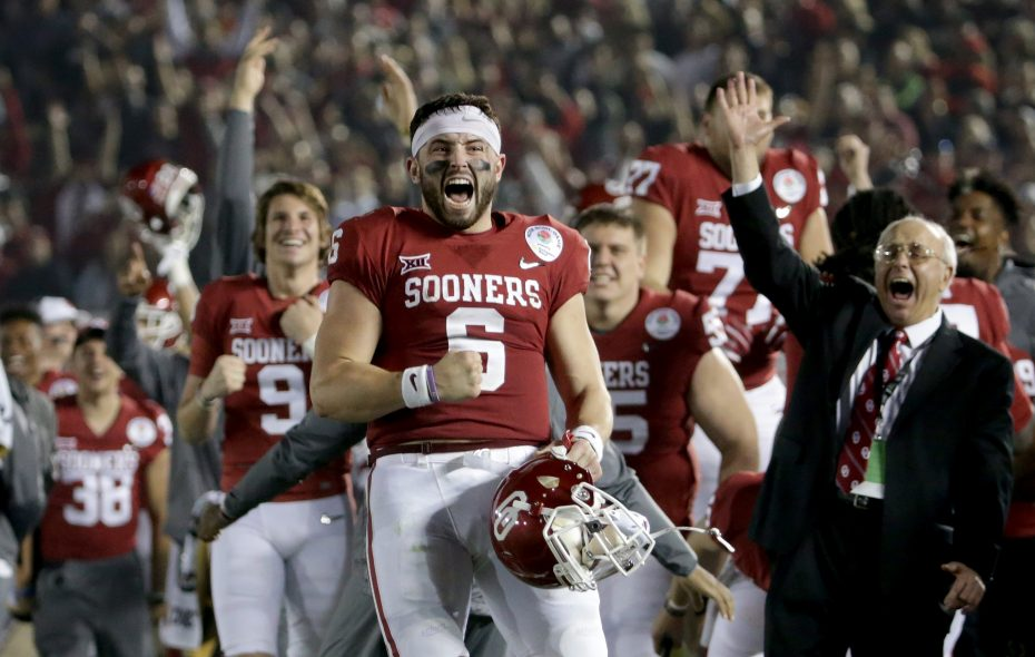 Oklahoma quarterback Baker Mayfield will tour the quarterback-needy teams. (Getty Images)