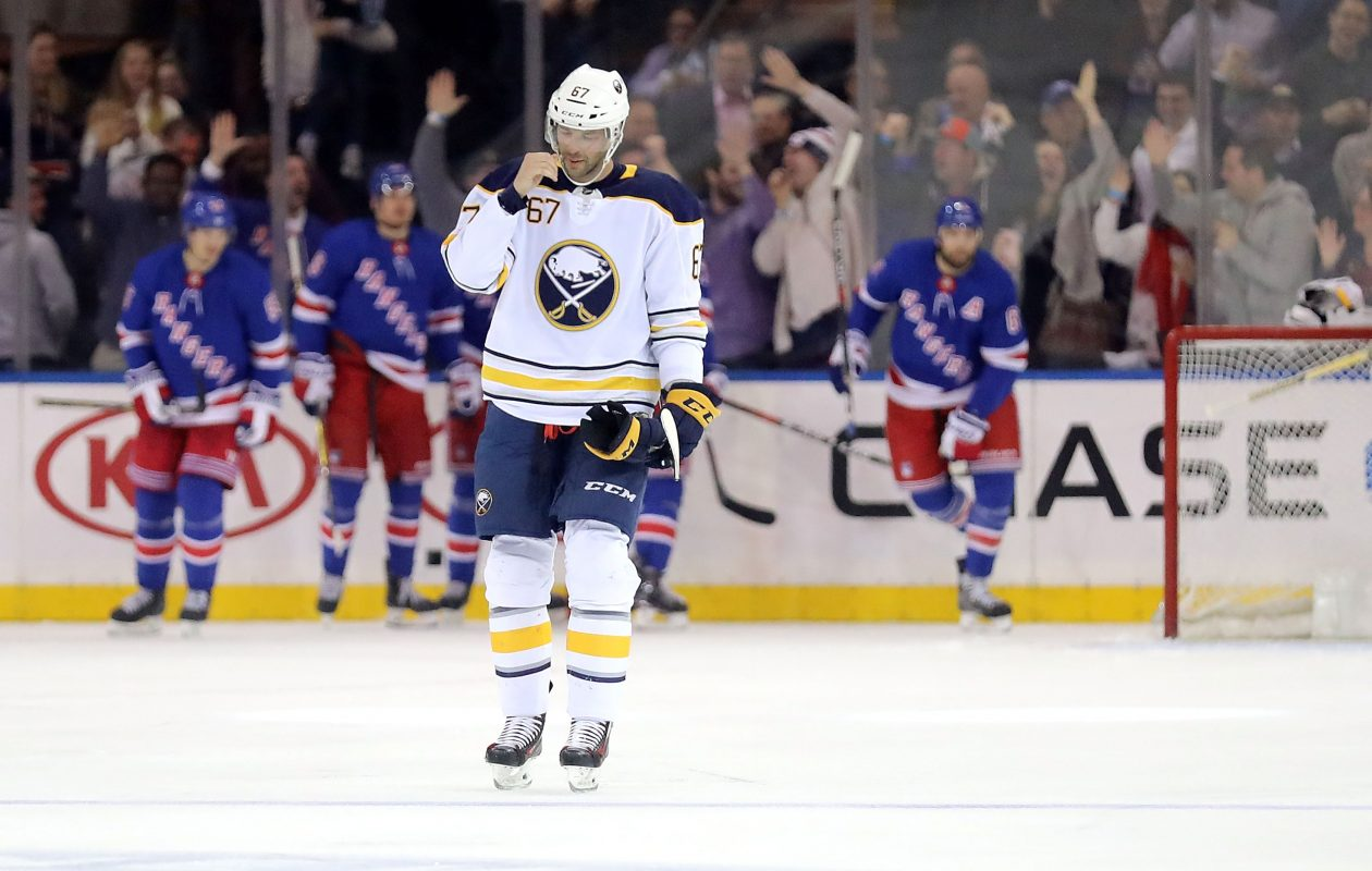 Benoit Pouliot and the Sabres haven't had success against New York this season. (Getty Images)