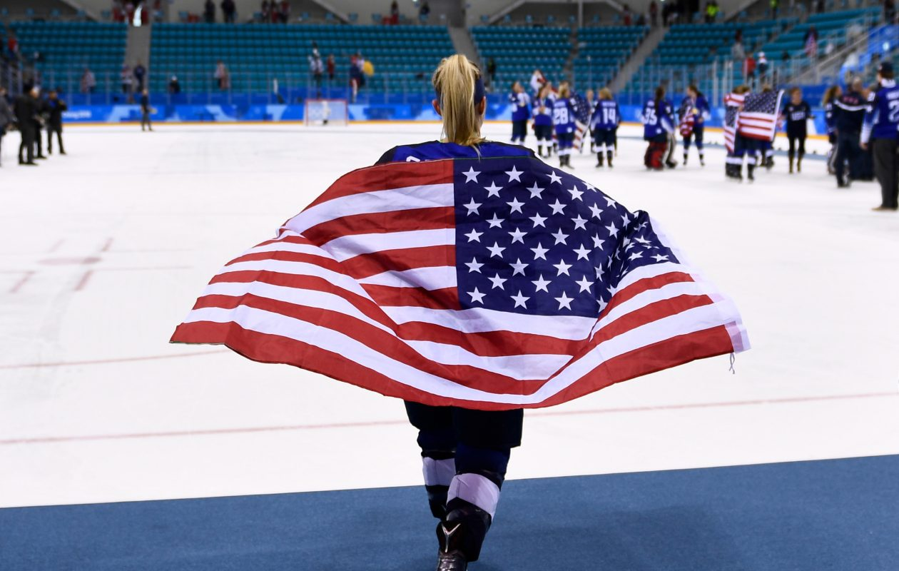 Emily Pfalzer helped the United States beat Canada last month in the gold-medal game in South Korea. (Getty Images)