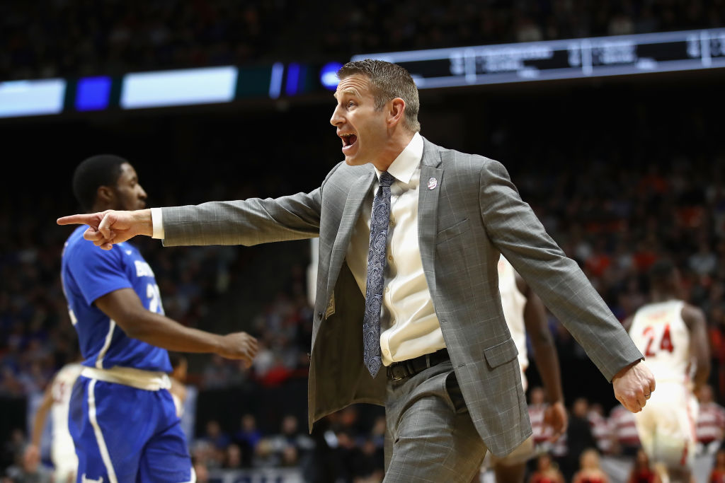 Head coach Nate Oats of the Buffalo Bulls reacts against the Arizona Wildcats during the first round of the 2018 NCAA Men's Basketball Tournament at Taco Bell Arena on March 15, 2018 in Boise, Idaho.  (Getty Images)