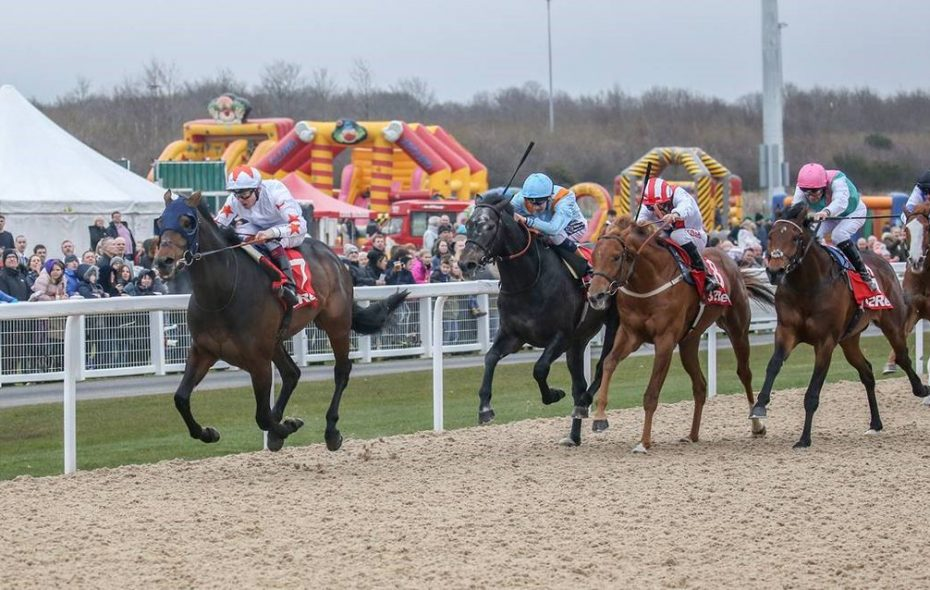 Gronkowski captures the Burradon Stakes (Listed) at Newcastle Racecourse (UK) by 1 1/4-lengths to qualify for Kentucky Derby 144. Photo Credit: Newcastle Racecourse