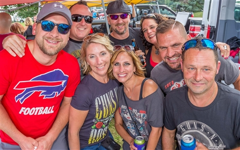 Smiles at Guns N Roses tailgate