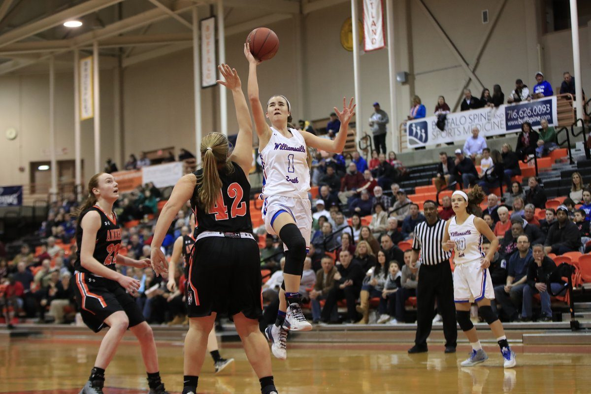 Hannah Dolan led Williamsville South with 28 points in Wednesday's win over Amherst in the overall Section VI Class A final. (Harry Scull Jr./Buffalo News)