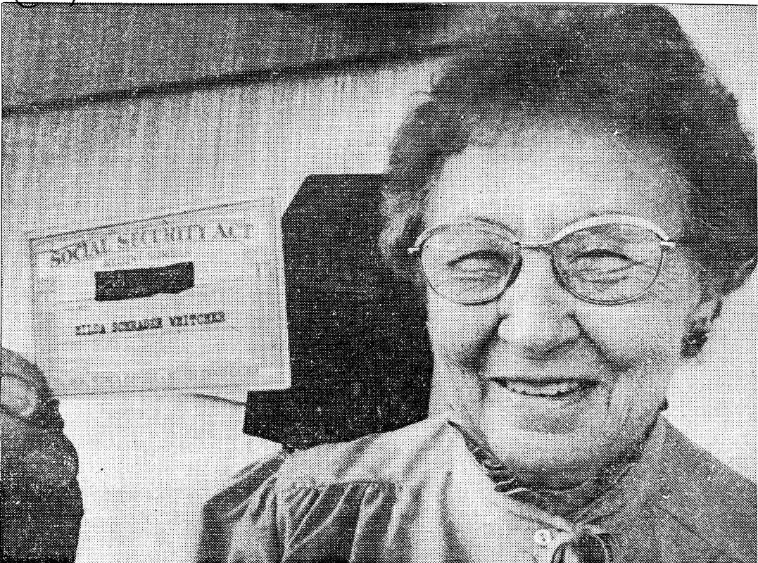 A photo of Hilda Whitcher ran in The Buffalo News in 1983, when she was interviewed about her famous Social Security number. (Buffalo News archives via the Niagara County Historical Society)