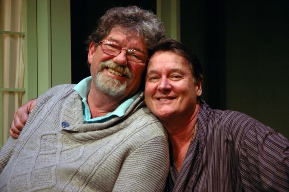 Buffalo theater director and designer Michael Lodick, left, poses with New Phoenix Theatre founder Richard Lambert. Lodick died last week at age 68.