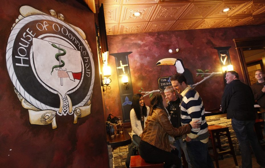 The Irishman Pub & Eatery is a popular bar and restaurant on Main Street in the heart of Williamsville. (Sharon Cantillon/Buffalo News)