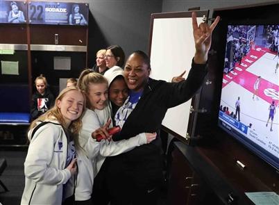 UB women celebrate NCAA Tournament