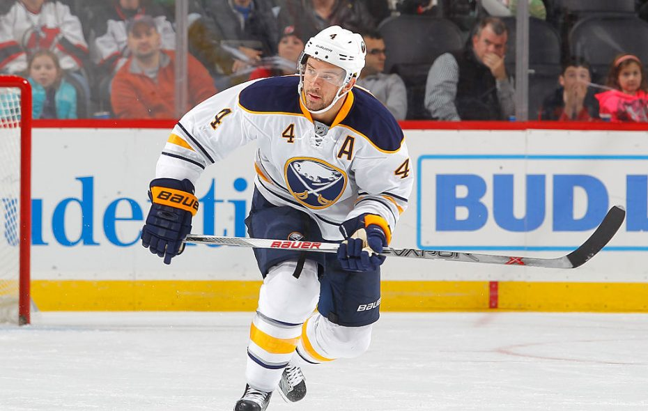 Josh Gorges has been a regular healthy scratch and has played only 30 games for the Sabres this season (Getty Images).