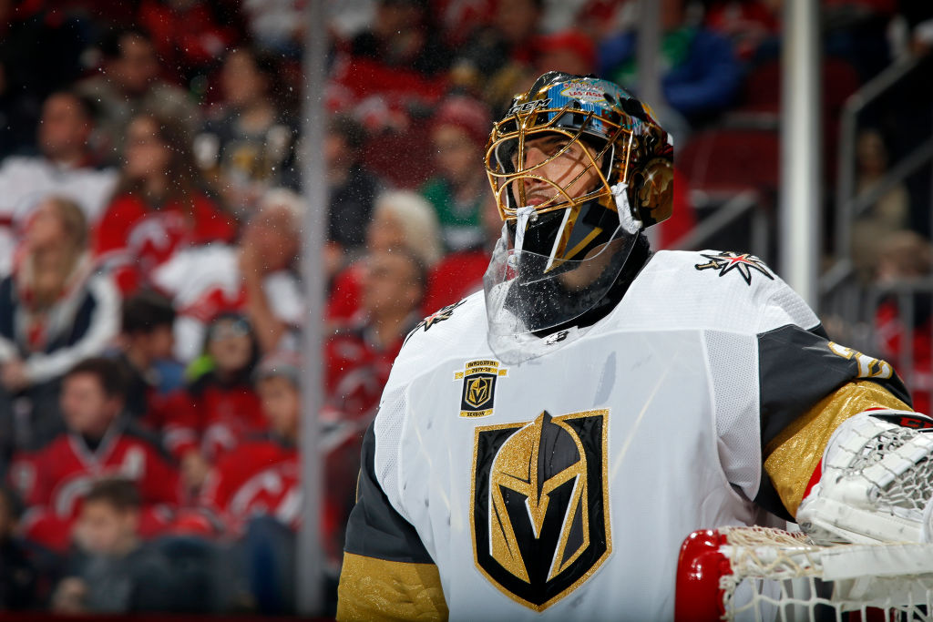 Goalie Marc-Andre Fleury has won 23 games for the Golden Knights this season (Getty Images).