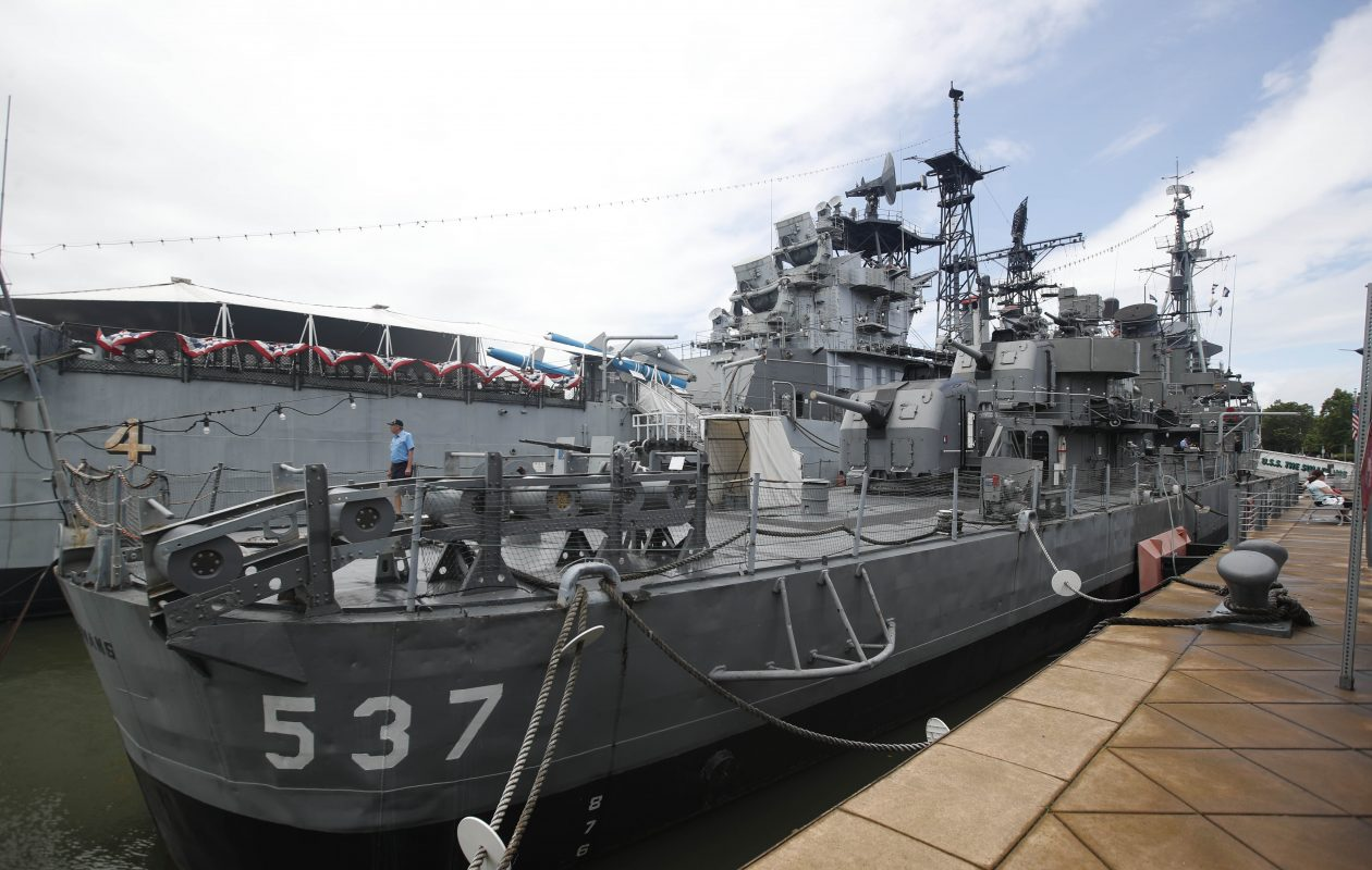 The USS The Sullivans, named in memory of the five Sullivan brothers who lost their lives during the Battle of the Solomon Islands. (Sharon Cantillon/News file photo)